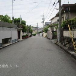 前面道路は6mの幅員です